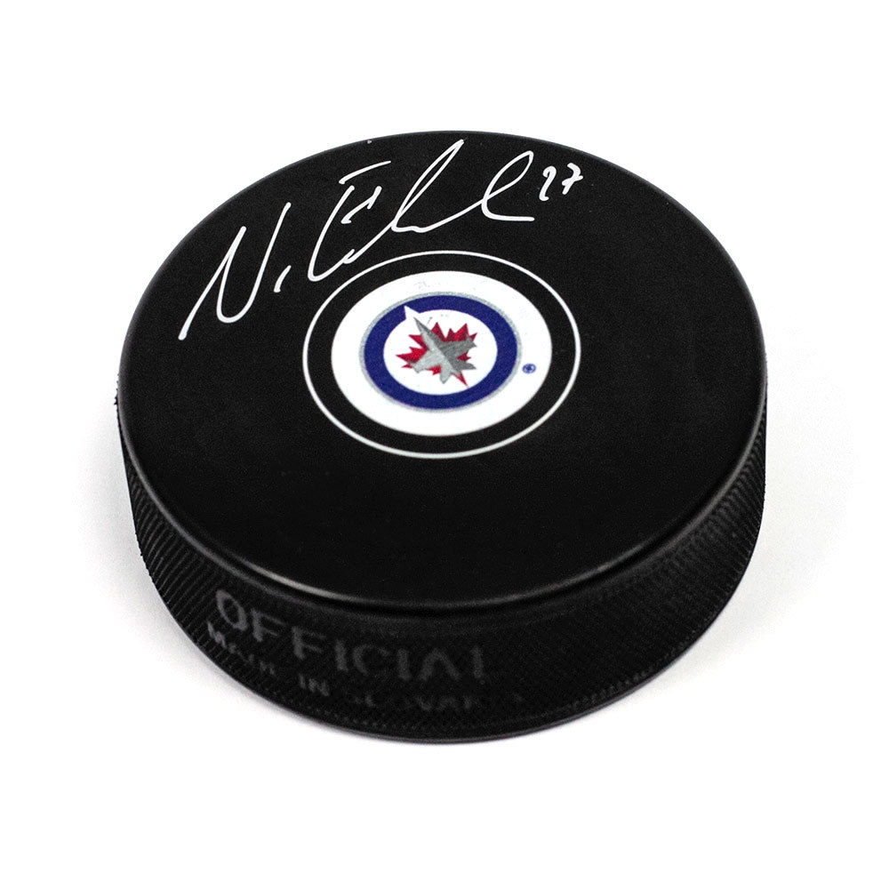 Nikolaj Ehlers Winnipeg Jets Signed Autograph Model Hockey Puck
