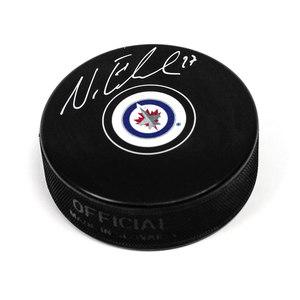 Nikolaj Ehlers 2014 NHL Draft Day Puck Autographed w/ 9th Pick Inscription *Winnipeg Jets*