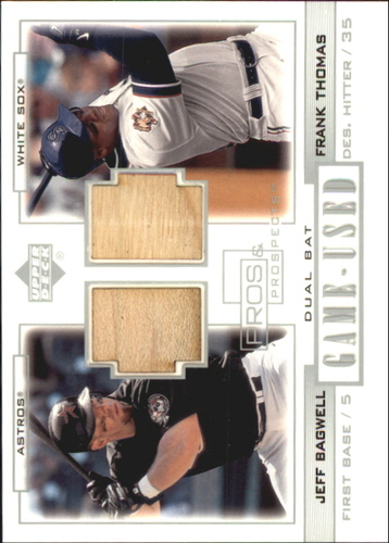 Photo of 2001 Upper Deck Pros and Prospects Game-Used Dual Bat #PPBT Jeff Bagwell/Frank Thomas
