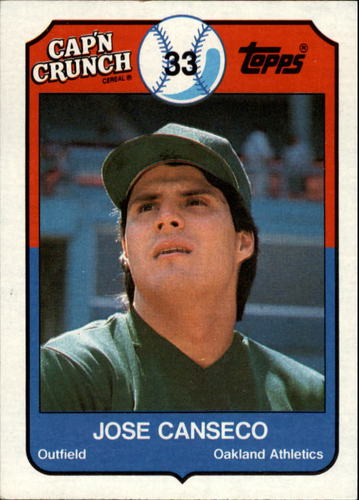 Photo of 1989 Topps Cap'n Crunch #1 Jose Canseco