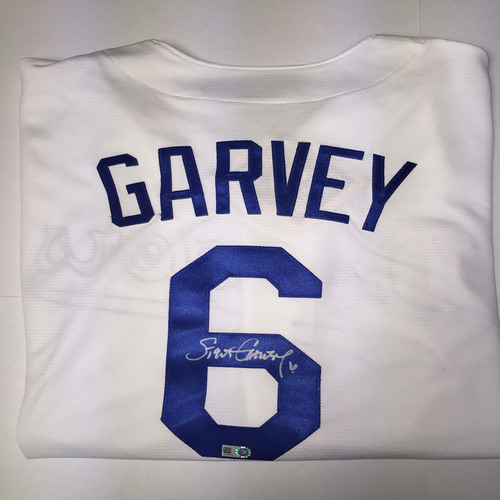 Photo of Steve Garvey Autographed Replica Dodgers Jersey