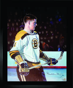Bobby Orr & Tony Harris - Dual Signed & Framed 20x24 Etched Mat - Limited Edition - Boston Bruins