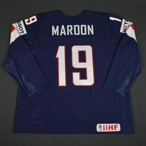 Patrick Maroon - 2016 U.S. IIHF World Championship - Game-Worn Jersey