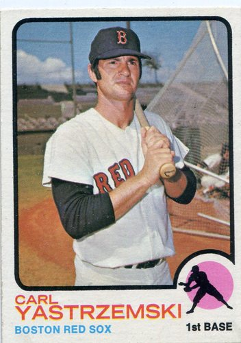 Photo of 1973 Topps #245 Carl Yastrzemski Hall of Famer
