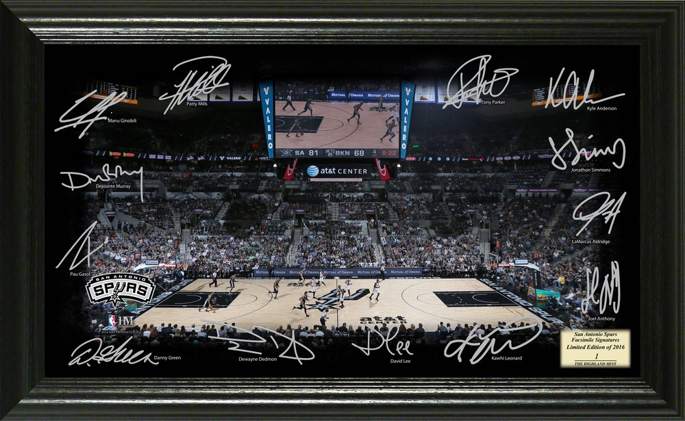Serial #1! San Antonio Spurs Signature Court