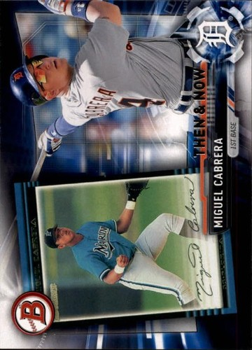 Photo of 2017 Topps Bowman Then and Now #BOWMAN20 Miguel Cabrera