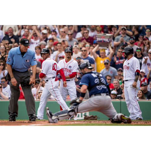 Photo of Red Sox Foundation Patriots' Day - Mookie Betts Game-Used and Autographed Jersey