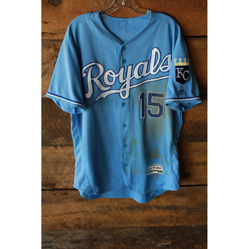 Photo of Game-Used Jersey: Whit Merrifield (7/23/17 - CWS at KC - Size 46 - Two Home Runs)