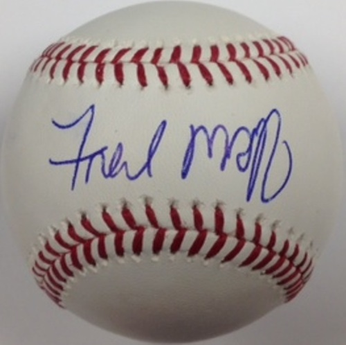 Photo of Fred McGriff Autographed Baseball