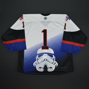 #1 No Name On Back - 2016 U.S. National Under-18 Development Team - Star Wars Night Game-Ready Jersey