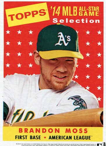 Photo of 2014 Topps 5x7 All-Star Selection Brandon Moss -- Part of exclusive Minneapolis FanFest set
