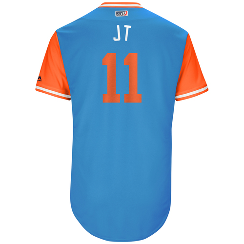 "Photo of JT ""JT"" Realmuto Miami Marlins Game-Used Players Weekend Jersey"