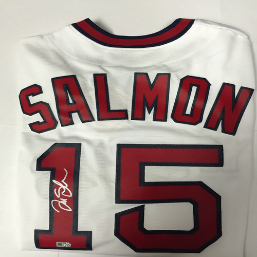 Photo of Tim Salmon Autographed Replica Angels Jersey