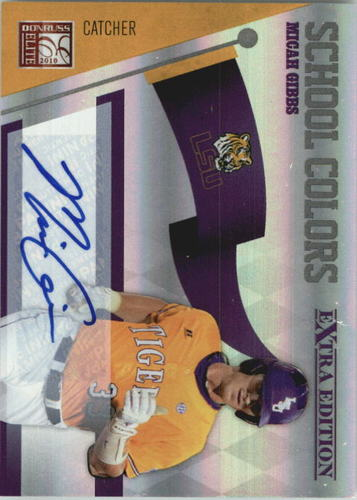Photo of 2010 Donruss Elite Extra Edition School Colors Autographs #18 Micah Gibbs/149