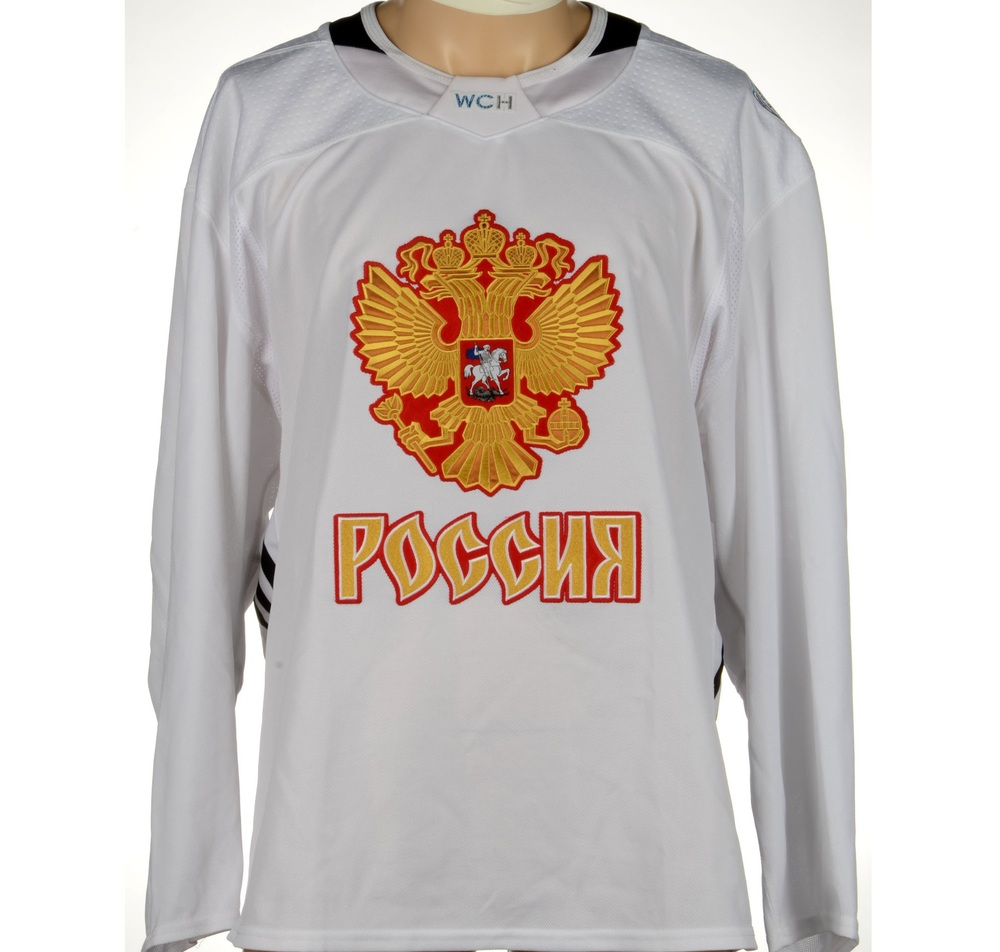 Team Russia Practice-Used White World Cup Of Hockey 2016 Jersey - Size 58