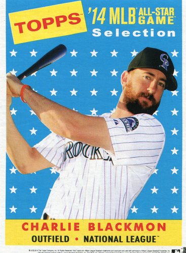 Photo of 2014 Topps 5x7 All-Star Selection Charlie Blackmon -- Part of exclusive Minneapolis FanFest set