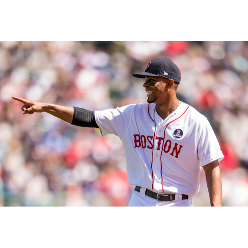 Photo of Red Sox Foundation Patriots' Day - Xander Bogaerts Game-Used and Autographed Jersey