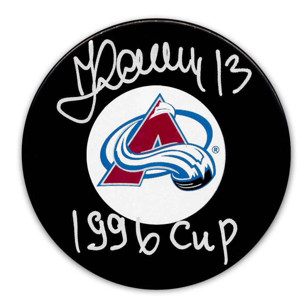 Valeri Kamensky Colorado Avalanche 1996 Cup Autographed Puck