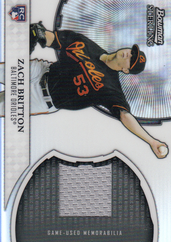 Photo of 2011 Bowman Sterling Rookie Relics #ZB Zach Britton