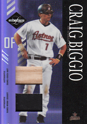 Photo of 2003 Leaf Limited TNT Prime #12 Craig Biggio H Bat-Jsy