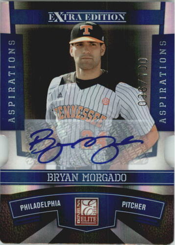 Photo of 2010 Donruss Elite Extra Edition Signature Aspirations #48 Bryan Morgado