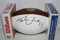NFL - 49ERS TAKEO SPIKES SIGNED PANEL BALL