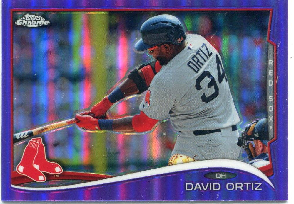 2014 Topps Chrome Purple Refractors #201 David Ortiz