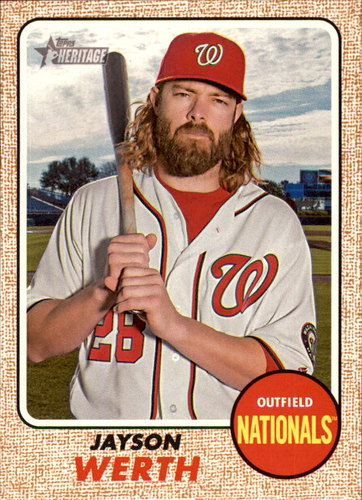 Photo of 2017 Topps Heritage #320 Jayson Werth