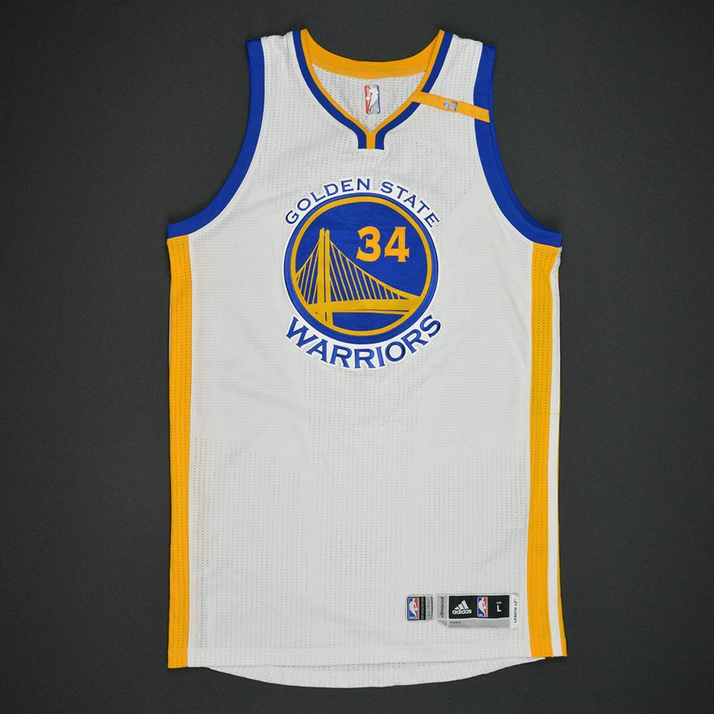Shaun Livingston - Golden State Warriors - 2017 NBA Finals - Game 1 - Game-Worn White Jersey