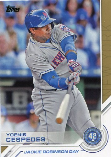 Photo of 2017 Topps Jackie Robinson Day #JRD20 Yoenis Cespedes