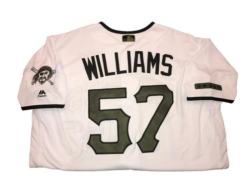 Photo of Trevor Williams Game-Used Memorial Day Weekend Jersey