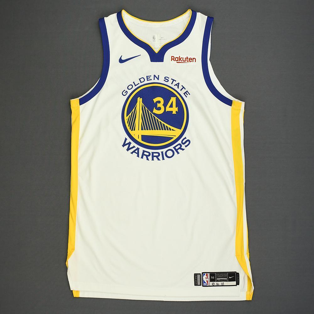 Shaun Livingston - Golden State Warriors - Kia NBA Tip-Off 2018 - Game-Worn Association Edition Jersey