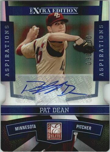 Photo of 2010 Donruss Elite Extra Edition Signature Aspirations #53 Pat Dean