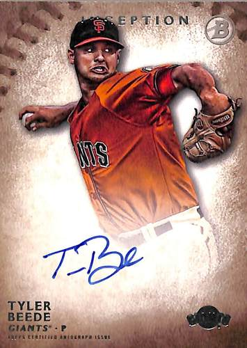 Photo of 2015 Bowman Inception Prospect Autographs #PATB Tyler Beede