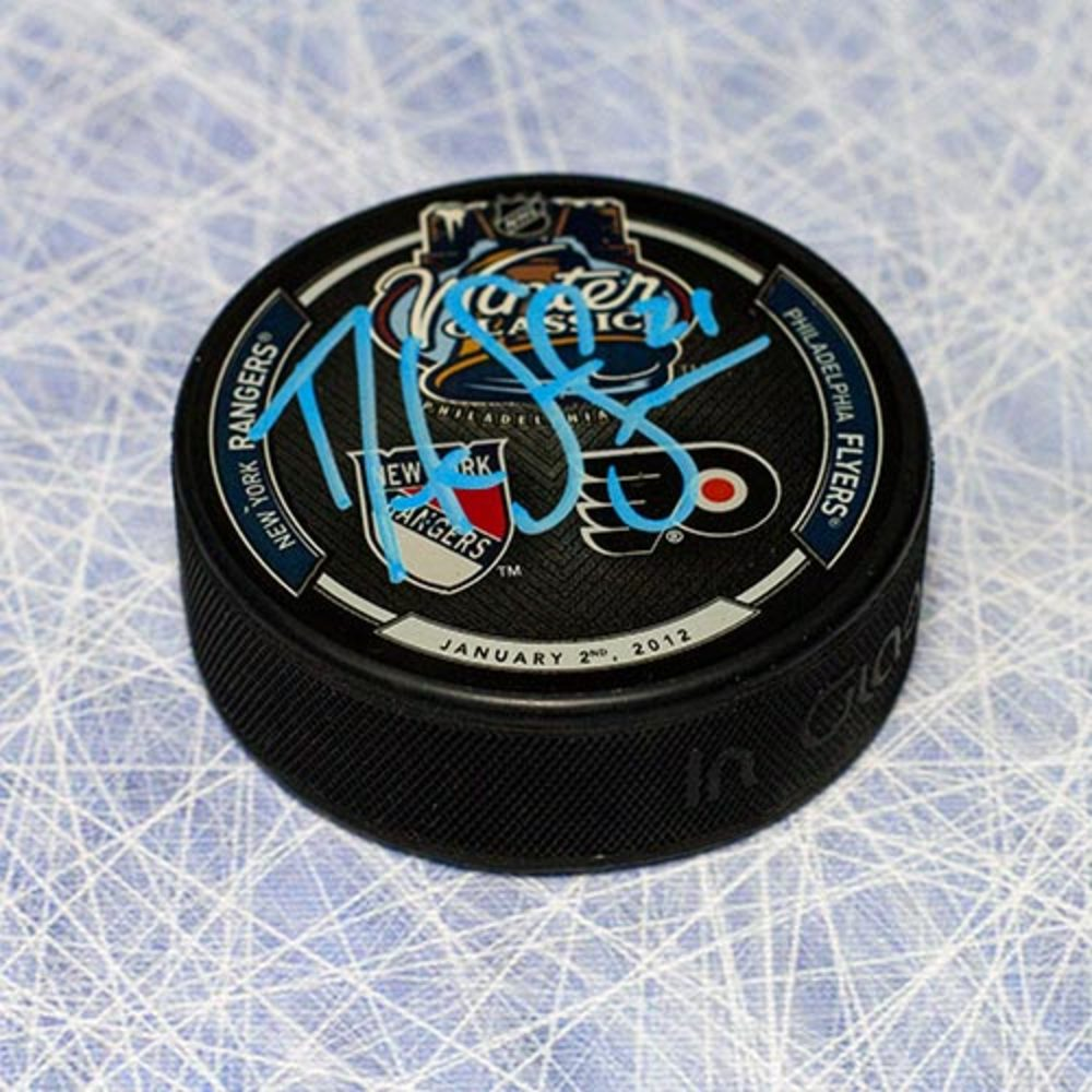 Derek Stepan New York Rangers Autographed 2012 Winter Classic Hockey Puck