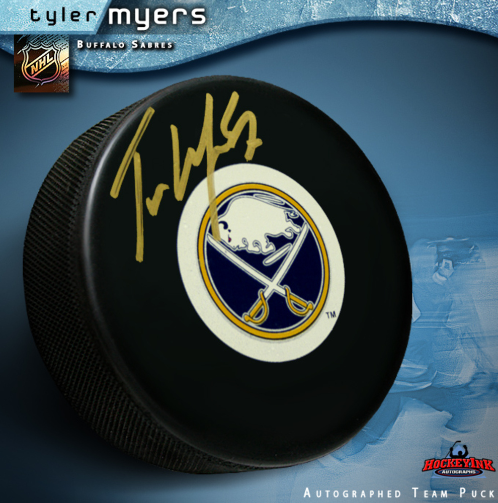 TYLER MYERS Signed Buffalo Sabres Puck