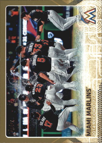 Photo of 2015 Topps Gold #699 Miami Marlins