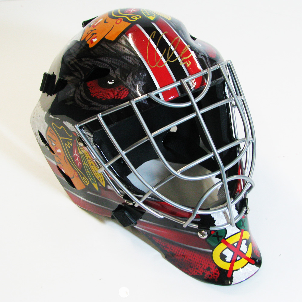 COREY CRAWFORD Signed Chicago Blackhawks Full Size Goalie Mask