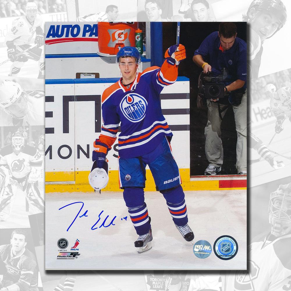Jordan Eberle Edmonton Oilers 1st Star Autographed 8x10