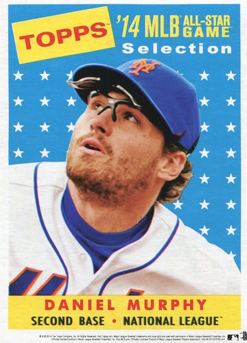 Photo of 2014 Topps 5x7 All-Star Selection Daniel Murphy -- Part of exclusive Minneapolis FanFest set