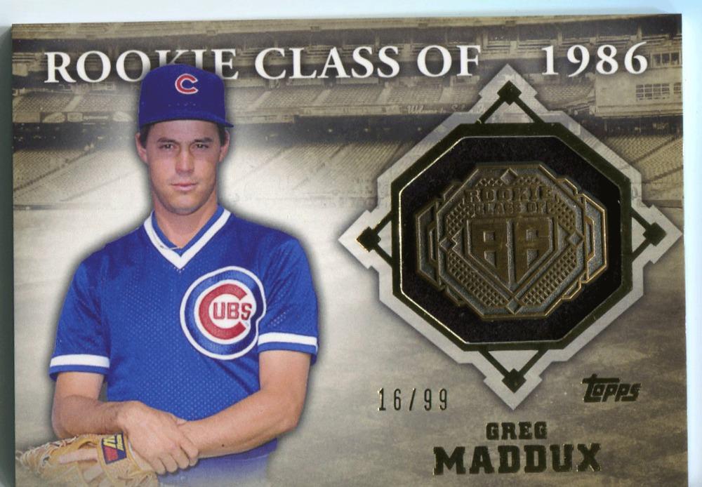 2014 Topps Class Rings Gold #CR30 Greg Maddux 16/99