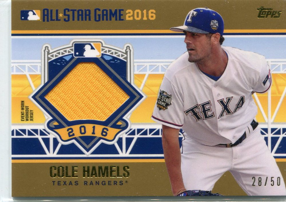 2016 Topps Update All-Star Stitches Gold #ASTITCH Cole Hamels