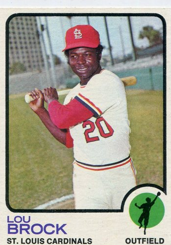 Photo of 1973 Topps #320 Lou Brock Hall of Famer