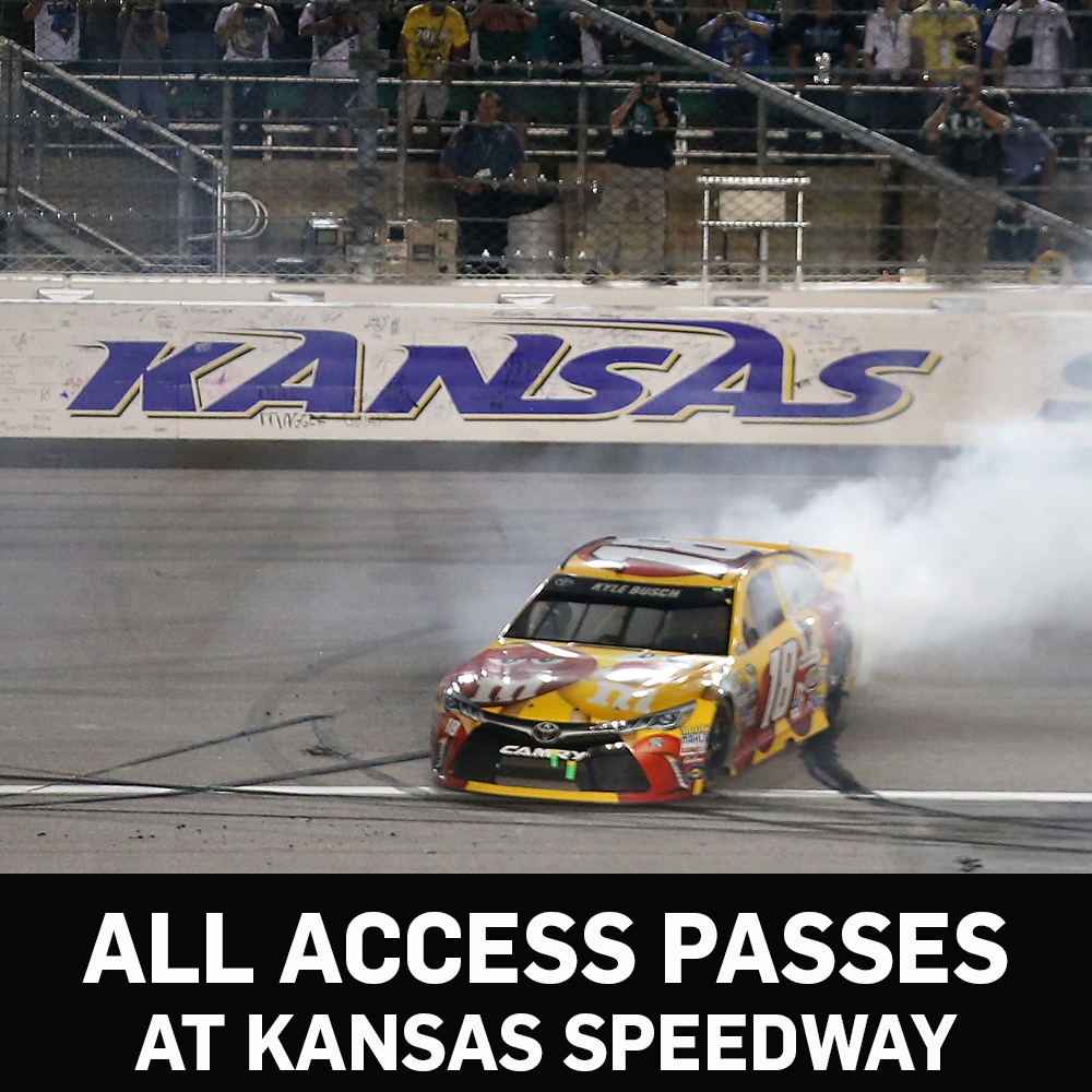 All Access NASCAR Garage Passes at Kansas Speedway -benefitting the Paralyzed Veterans of America!