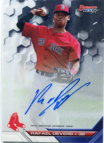 Photo of 2016 Bowman's Best Best of '16 Autographs #B16RD Rafael Devers