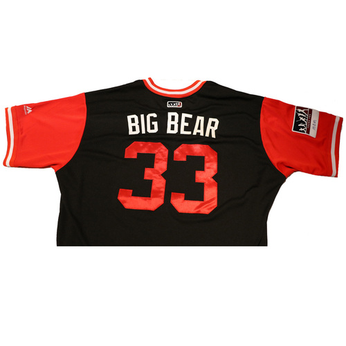 "Photo of Jake ""Big Bear"" Barrett Arizona Diamondbacks Game-Used Players Weekend Jersey"