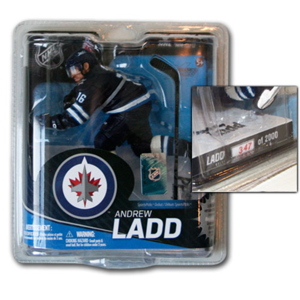 Andrew Ladd (Winnipeg Jets) Bronze Collector Level McFarlane Figurine - #347/2000