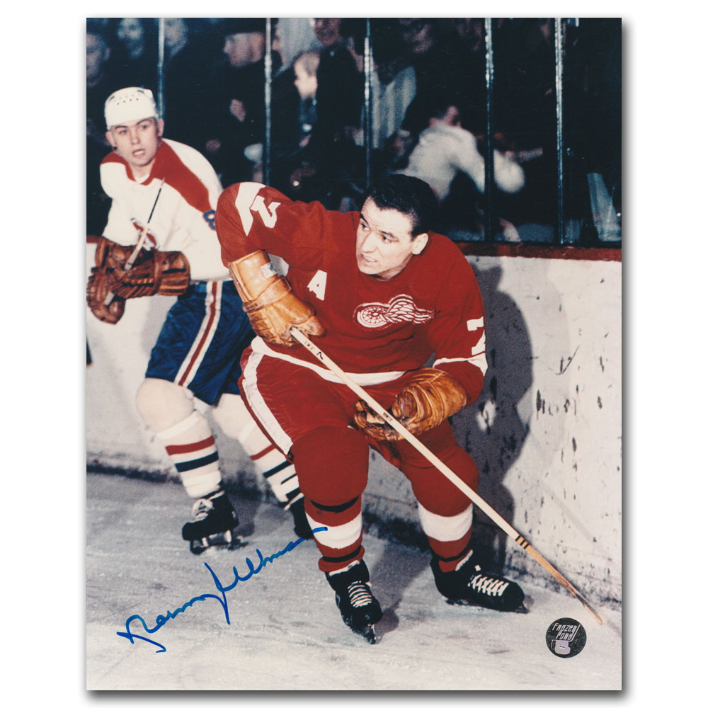 Norm Ullman Autographed Detroit Red Wings 8X10 Photo