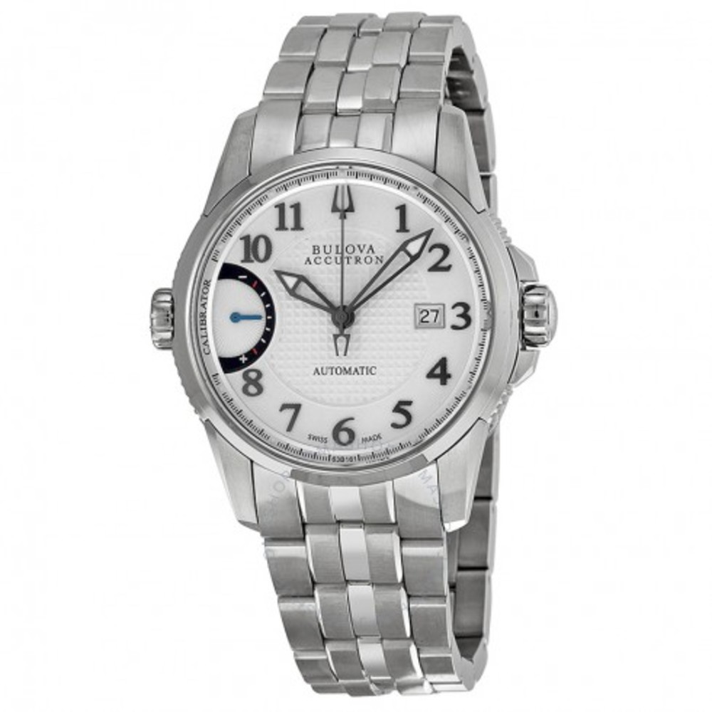 Bulova Calibrator Silver Dial Stainless Steel Men's Watch 63B161