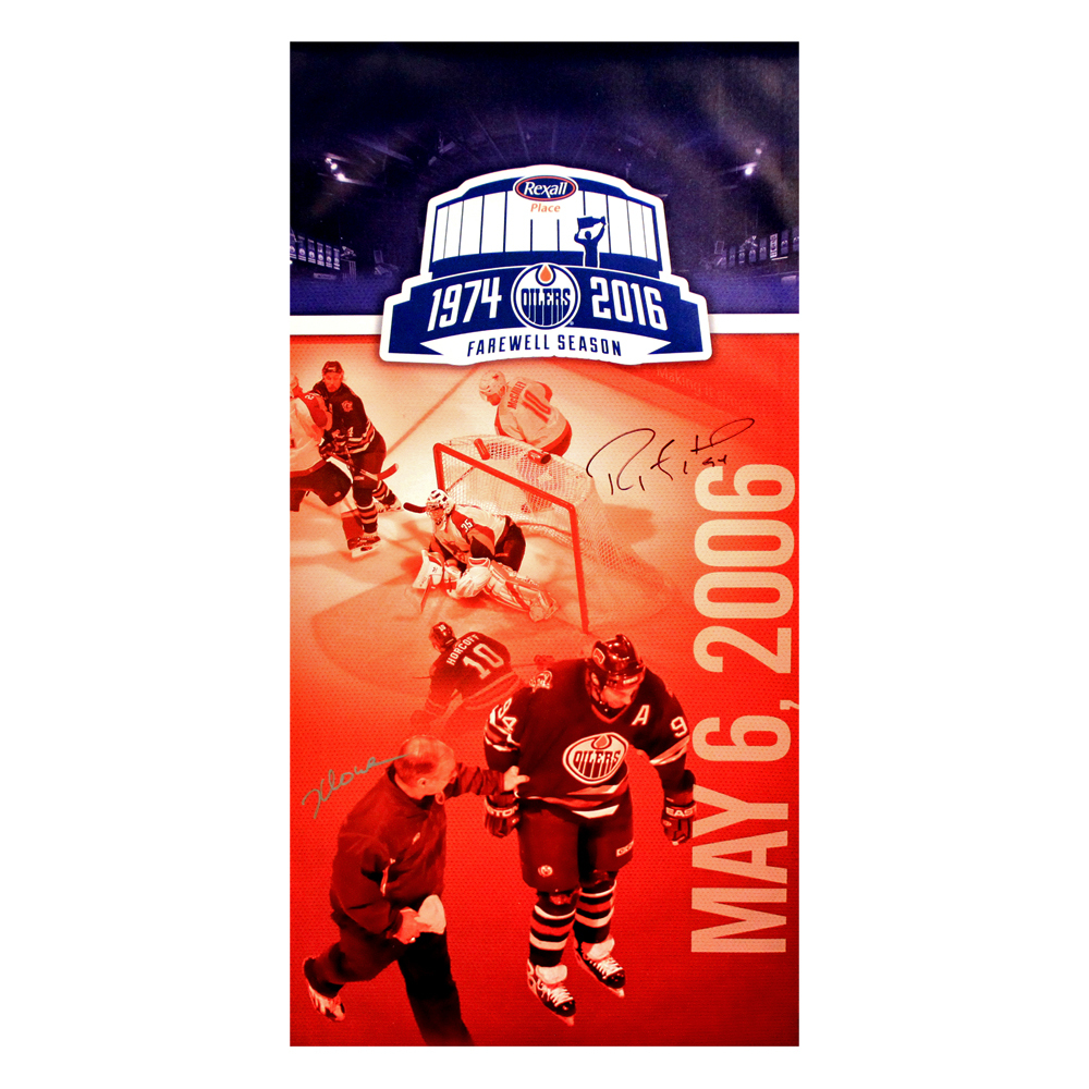 Ryan Smyth #94 - Autographed Edmonton Oilers Rexall Place Farewell Concourse Promotional Banner